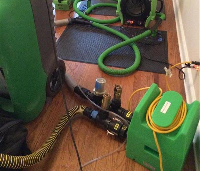 SERVPRO rescues hardwood floor from storm damage